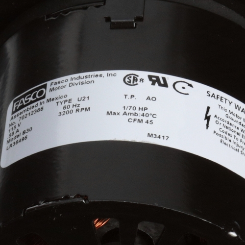 Fasco B30 45 CFM 3200 RPM 115 Volts Centrifugal Blower
