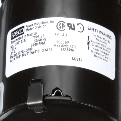 Fasco 50745-D500 15 CFM 3150 RPM 115 Volts Centrifugal Blower