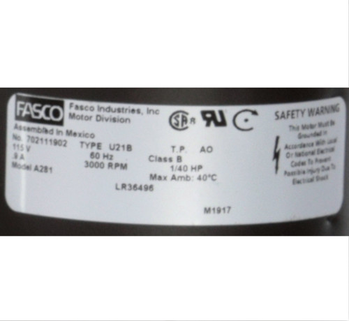 Fasco A281 3000 RPM 115 Volts OEM Replacement Draft Inducer Blower