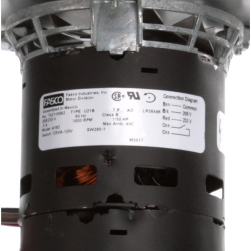 Fasco A162 3000 RPM 208/230 Volts OEM Replacement Draft Inducer Blower