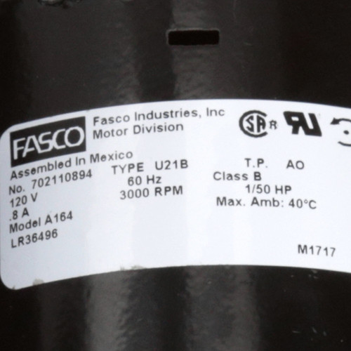 Fasco A164 3000 RPM 120 Volts OEM Replacement Draft Inducer Blower