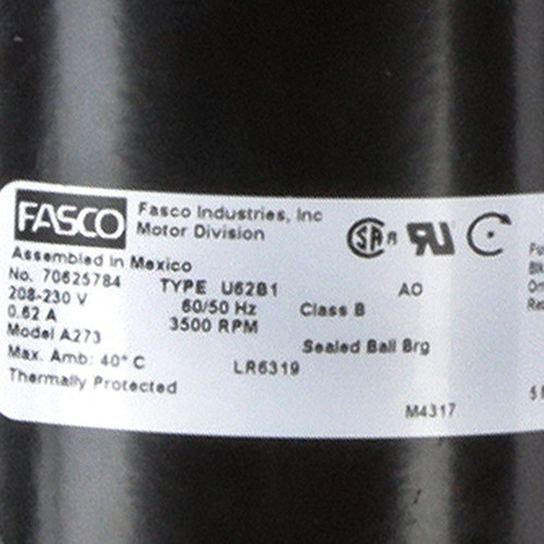 Fasco A273 3500 RPM 208-230 Volts OEM Replacement Draft Inducer Blower