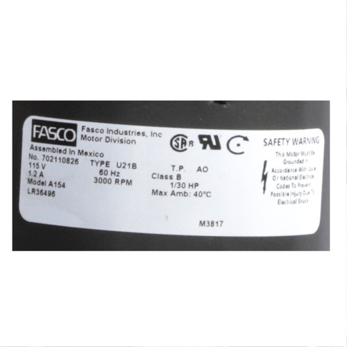 Fasco A154 3000 RPM 115 Volts OEM Replacement Draft Inducer Blower