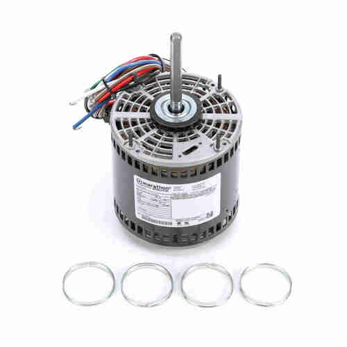 Marathon X020 1/2 HP 1075 RPM 277 Volts Direct Drive Fan and Blower Motor