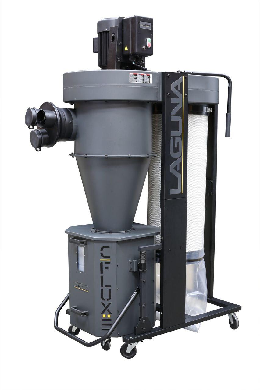 Laguna - C flux:3 - 3 hp Cyclone Dust Collector - 220 Volt (642872599215)