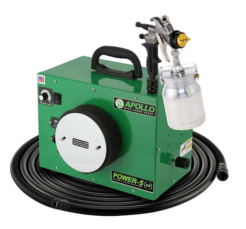 Apollo - 5-stage POWER 5 VS+; 110 volt motor with 32' air flex hose and A7700QT spray gun and an A5251-NT Siphon Feed cup (5VS1107700QT)