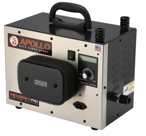 """Apollo - 5-Stage Precision 5 Pro LE; 120 volt motor, with internal bleed, Includes 32"""" Air Flex Hose, A7700GT-1000 Spray Gun & Accessories (PSPROLE1107700G)"""