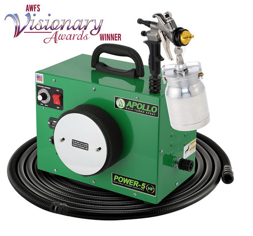 Apollo - 5-stage POWER 5 VS+; 110 volt motor with 32' air flex hose and A7700GT-600 spray gun and A5034A 600cc Gravity Feed cup (5VS1107700GT600)