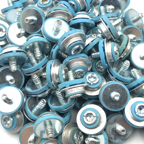 LOT OF 304 - HP 450712-001 HARD DRIVE ISOLATION BLUE GROMMET MOUNTING SCREWS
