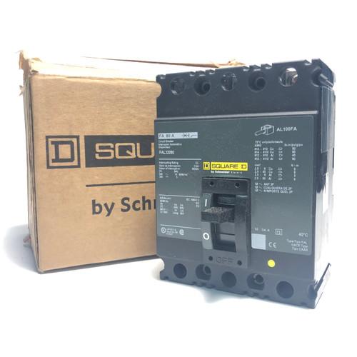 SQUARE D FAL32080 3-POLE, 80A, 240V CIRCUIT BREAKER - NEW OPEN BOX