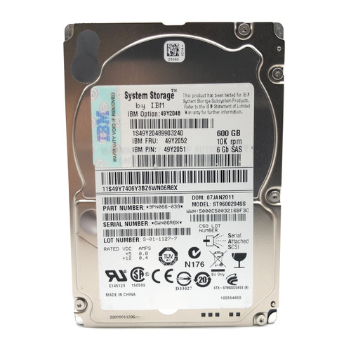 "LOT OF 40 - SEAGATE ST9600204SS 600GB 2.5"" SAS 10000RPM 6GBs 16MB"