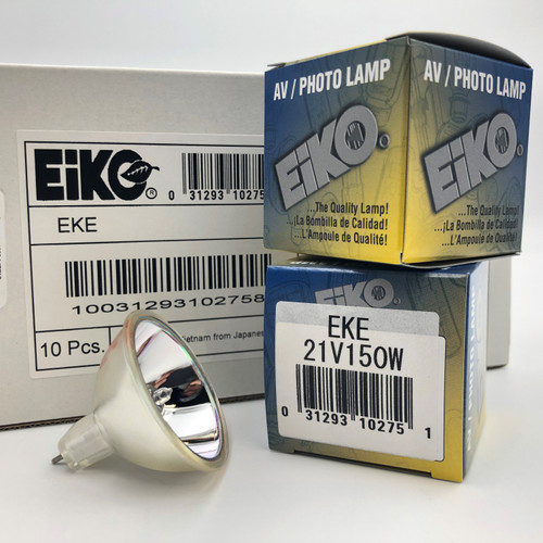 LOT OF 10 - EIKO EKE 21V150W 21V 150W MR16 GX5.3 BASE HALOGEN REFLECTOR BULB
