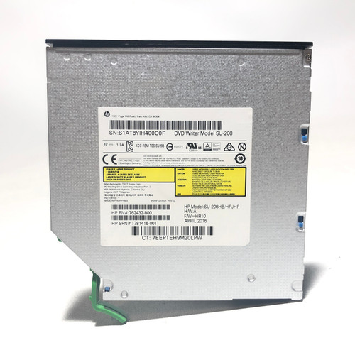 LOT OF 10 - HP SU-208HB (762432-800/781416-001) SATA CD/DVD±RW INTERNAL SLIM