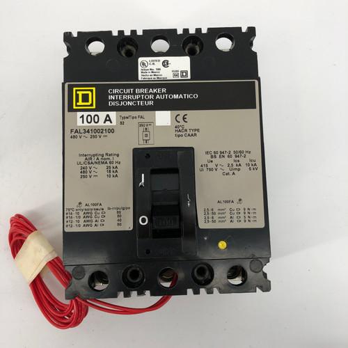 SQUARE D FAL341002100 CIRCUIT BREAKER 100A - NEW NO BOX