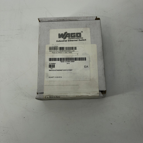 LOT OF 3 - WAGO 511-0894 5 PORT INDUSTRIAL ETHERNET SWITCH - NEW