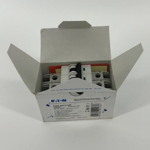 EATON FAZ-D3/3-NA 3A 3-POLE CIRCUIT BREAKER - NEW
