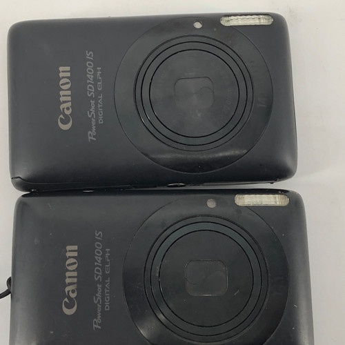 LOT OF 2 - CANON POWERSHOT SD1400 IS PC1472 14 MP DIGITAL CAMERA