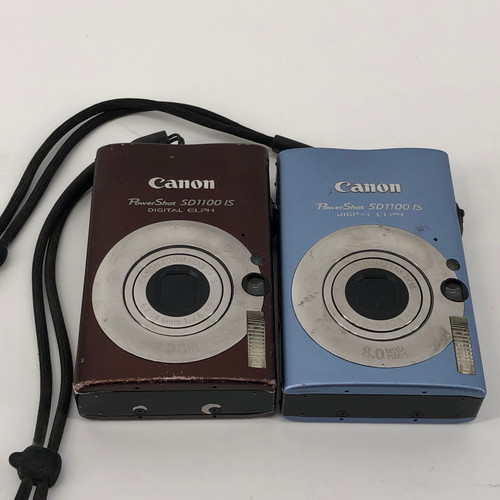 LOT OF 2 - CANON POWERSHOT SD1100 IS PC1271 8 MP DIGITAL CAMERA