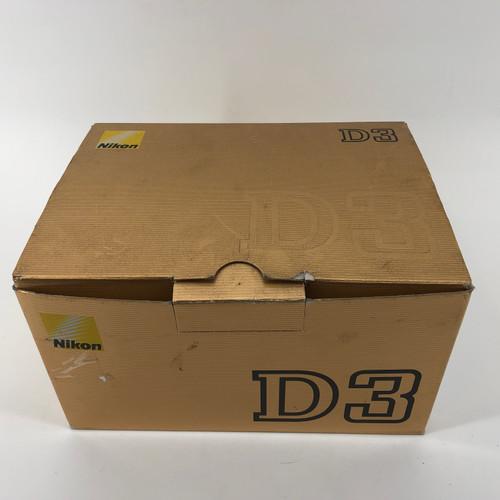 NIKON D3 12MP PRO DIGITAL SLR  12.1 MP DIGITAL CAMERA - USED