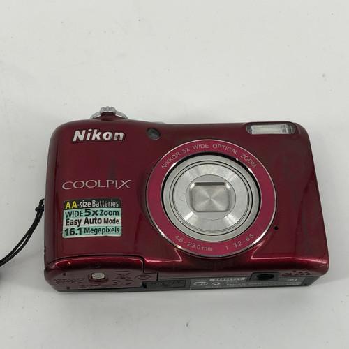 NIKON COOLPIX L26 - RED L26-RED 16 MP DIGITAL CAMERA