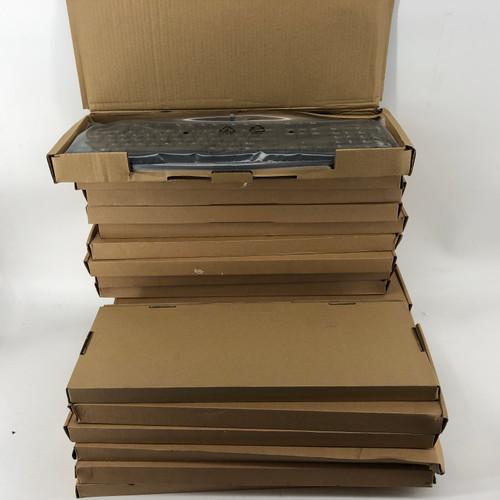 LOT OF 20 - HP 911502-001 TPC-C001K USB SLIM SMART CARD KEYBOARD - NEW
