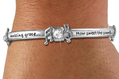 Amazing Grace Music Notation Bracelet