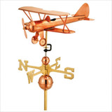 Full Size Weathervane Biplane
