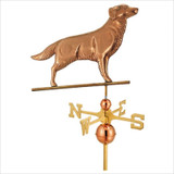 Full Size Weathervane Golden Retriever in Polished