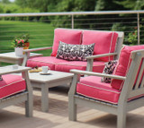 Seaside Casual Nantucket Deep Seating Love Seat