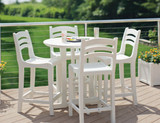 "Casual Westport 36"" Round Balcony Table - EnviroWood"