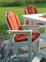Seaside Casual Classic Adirondack Dining or Bar Chair Cushion
