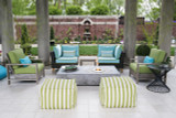 Dash & Albert Indoor/Outdoor Trimaran Strip Poufs