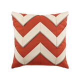 Coral Cruise Chevron toss pillow