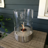 EcoSmart Cylindrical Tea Light Fireplace