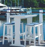 """Seaside Casual SYM 25"""" x 50"""" Pub Table - EnviroWood"""
