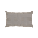 Elaine Smith Basketweave Gray Lumbar pillow