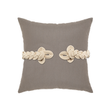 Elaine Smith Taupe Frog's Clasp toss pillow