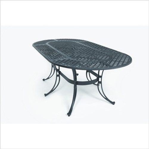 "Three Coins 72"" Oval Table"