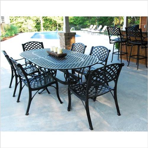 "Crossweare 82"" Oval Dining Table Set"