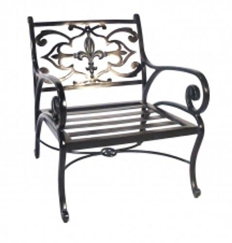 Three Coins Fleur de Lis Chair