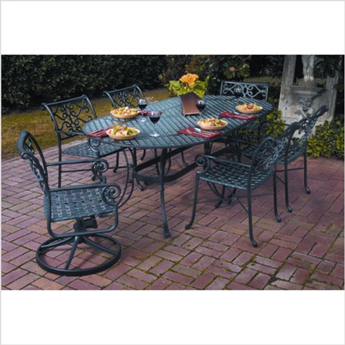 "Veracruz 84"" Oval Dining Table Set"