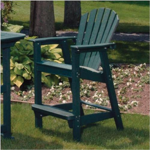 Adirondack Shell Back Outdoor Bar Chair - EnviroWood