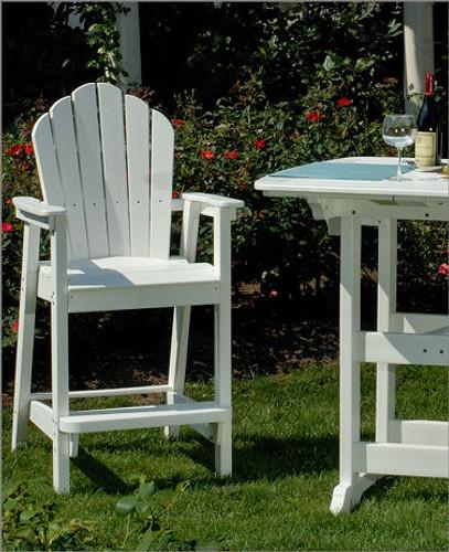 Seaside Casual Classic Adirondack Bar Chair - EnviroWood