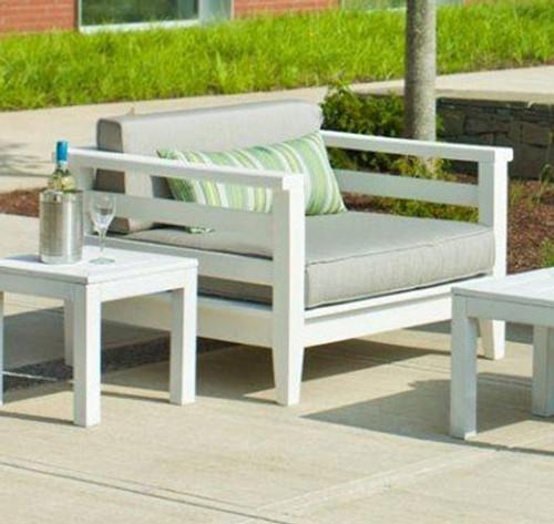 Seaside Casual Cambridge Club Chair & Cushion 2pc Set