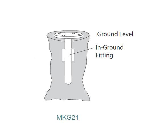Shademaker In-Ground Mount Kit Diagram