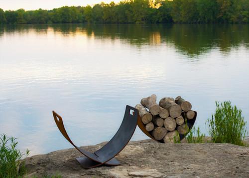 Fire Pit Art Optional Wings of Flight Wood Rack