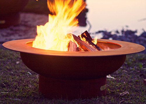Fire Pit Art Saturn Wood Burning Fire Pit