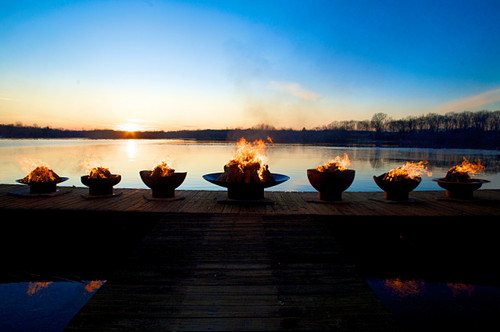 Fire Pit Art Scallops Wood Burning Fire Pit