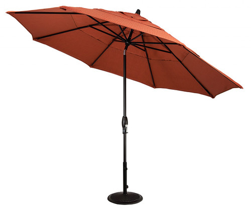 Treasure Garden Aluminum 11' Octagon Umbrella, double wind vent