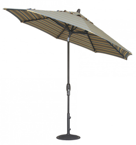 Treasure Garden Aluminum 9' Octagon Auto Tilt Umbrella, single wind vent